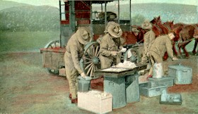 K Troops's Field Kitchen cir. 1916